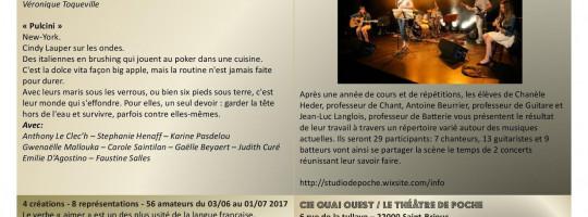 Le festival des ateliers amateurs de la compagnie Quai Ouest de Saint-Brieuc