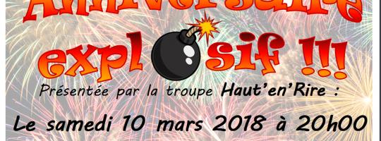 Haut en rire  –  Trégueux  –  «Anniversaire explosif»