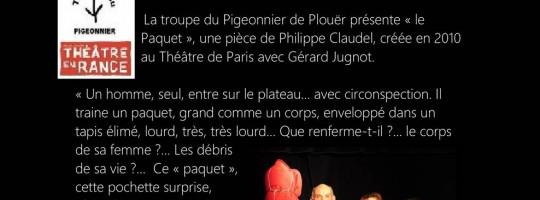 Le théâtre du Pigeonnier  –  Plouër sur Rance  –  «Le paquet»