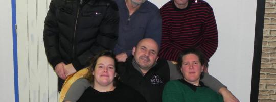 La troupe de l'Amicale laïque  –  Le Gouray  –  «Le père Noël est une ordure»