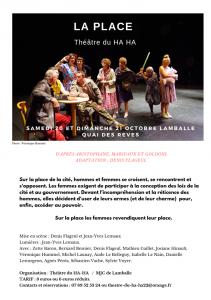 """Le théâtre du Ha ha  -  """"La place"""""""