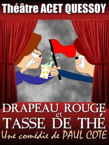 """ACET QUESSOY  -  """"Drapeau rouge et tasse de thé"""""""