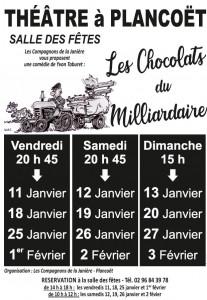 Affiche Les chocolats