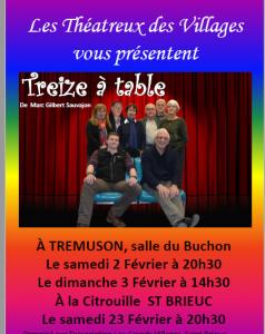 """Les théâtreux des Villages  -  """"Treize à table"""""""