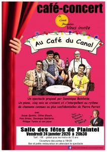 """Café concert """"Au café du canal"""" à Plaintel"""